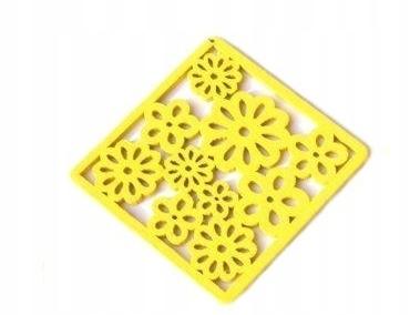 Hrnčekové podložky ľahké drevené jarné farby