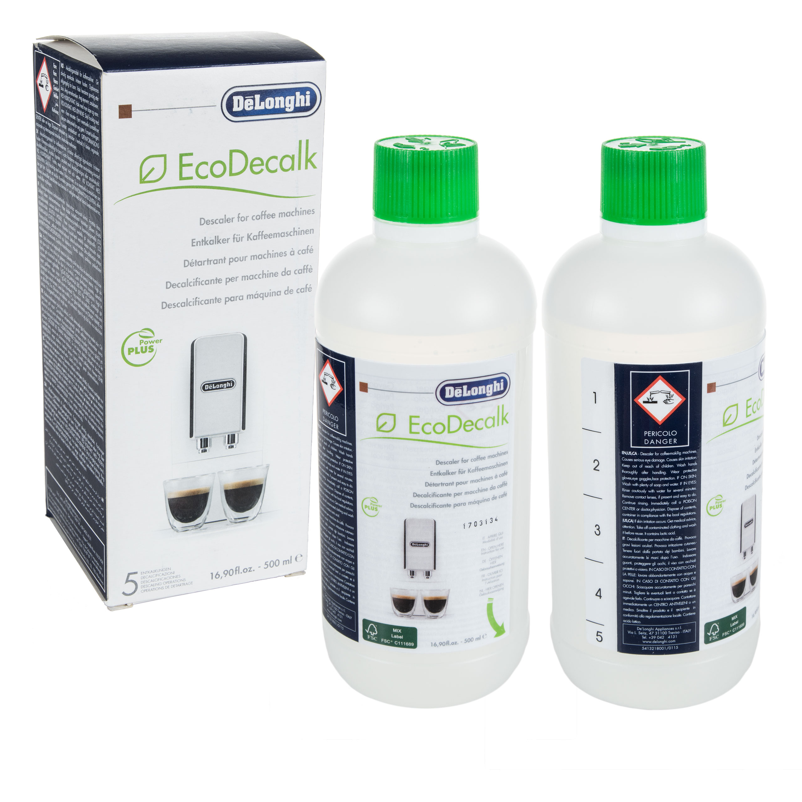 Item Packaged DeLonghi EcoDecalk DESCALER 500 ml