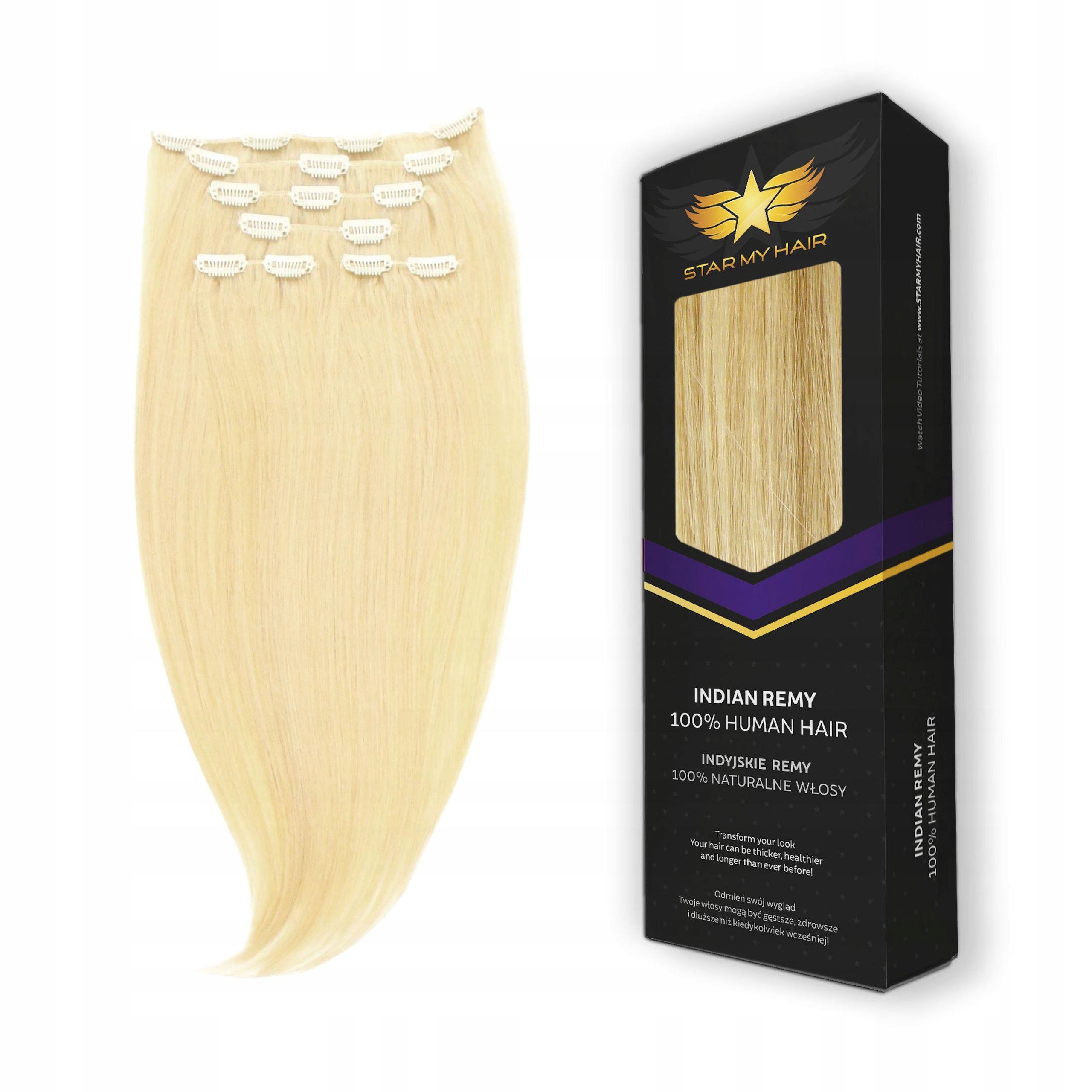 Item CLIP IN 40-45 cm 6taśm - NATURAL HAIR INDIAN