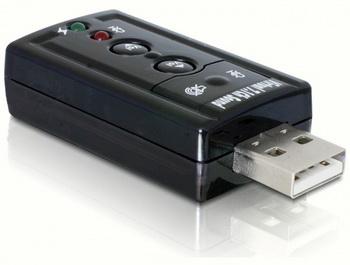 Купить Звуковая карта DELOCK 7.1 USB на Otpravka - цены и фото - доставка из Польши и стран Европы в Украину.