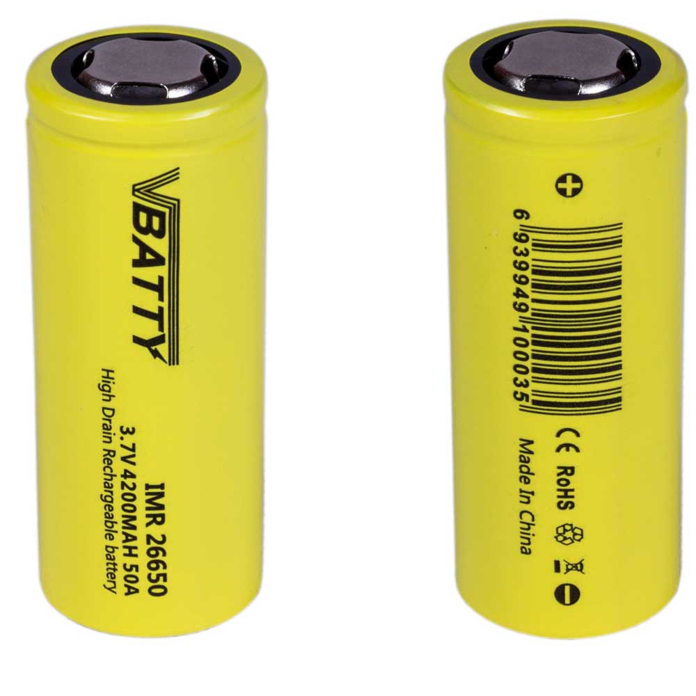 Item Battery camera 3.7 V 26650 4200 mAh 50A CE 2x