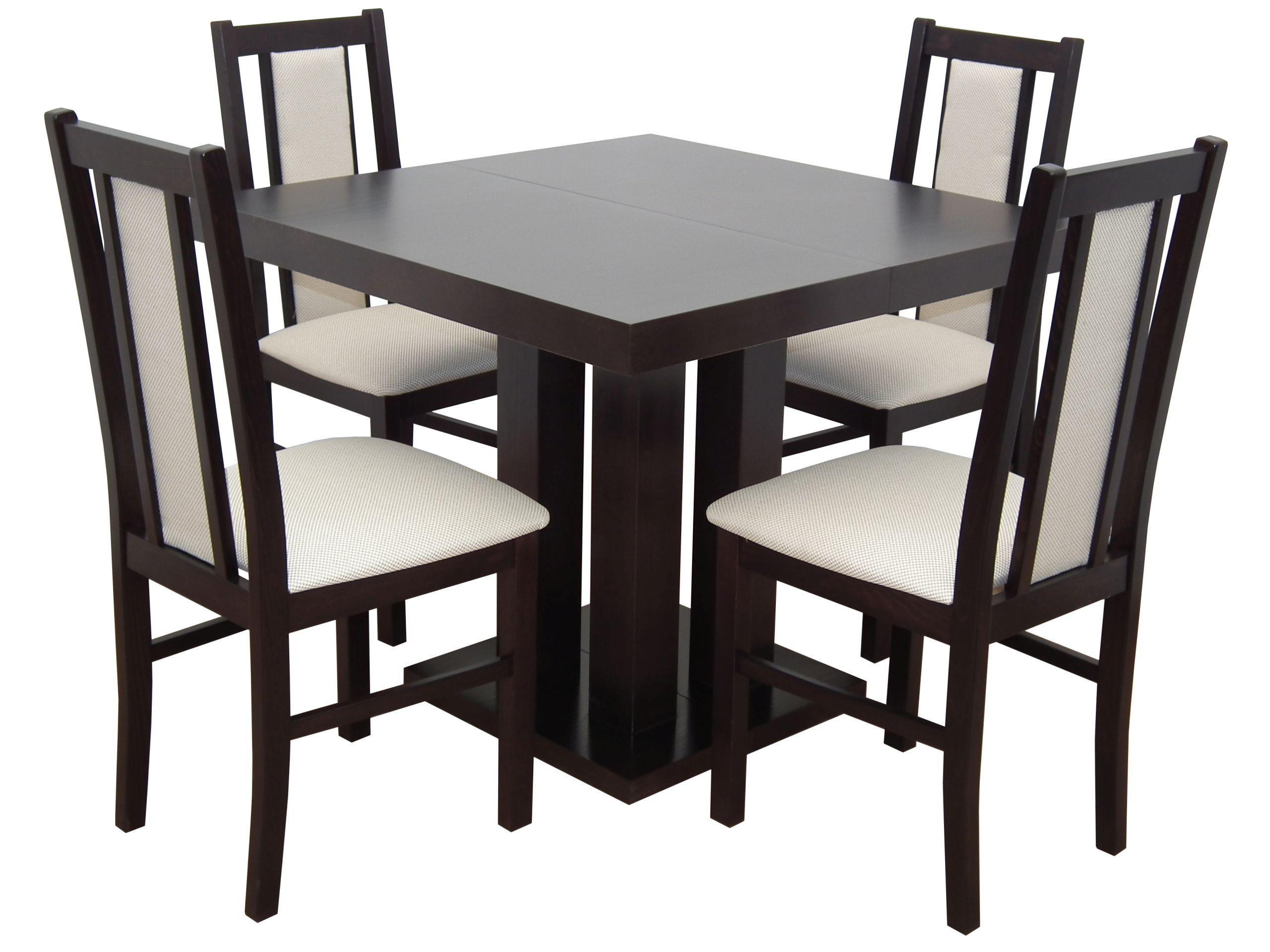 Štvorcový stôl 80x80/200 + 4 stoličky