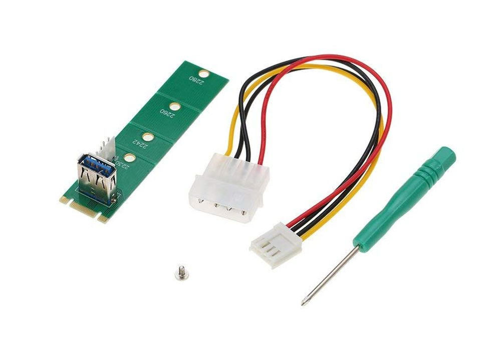 Item Adapter M. 2 Riser set of interfaces for USB3.0 +4Pin FDD LM-171U