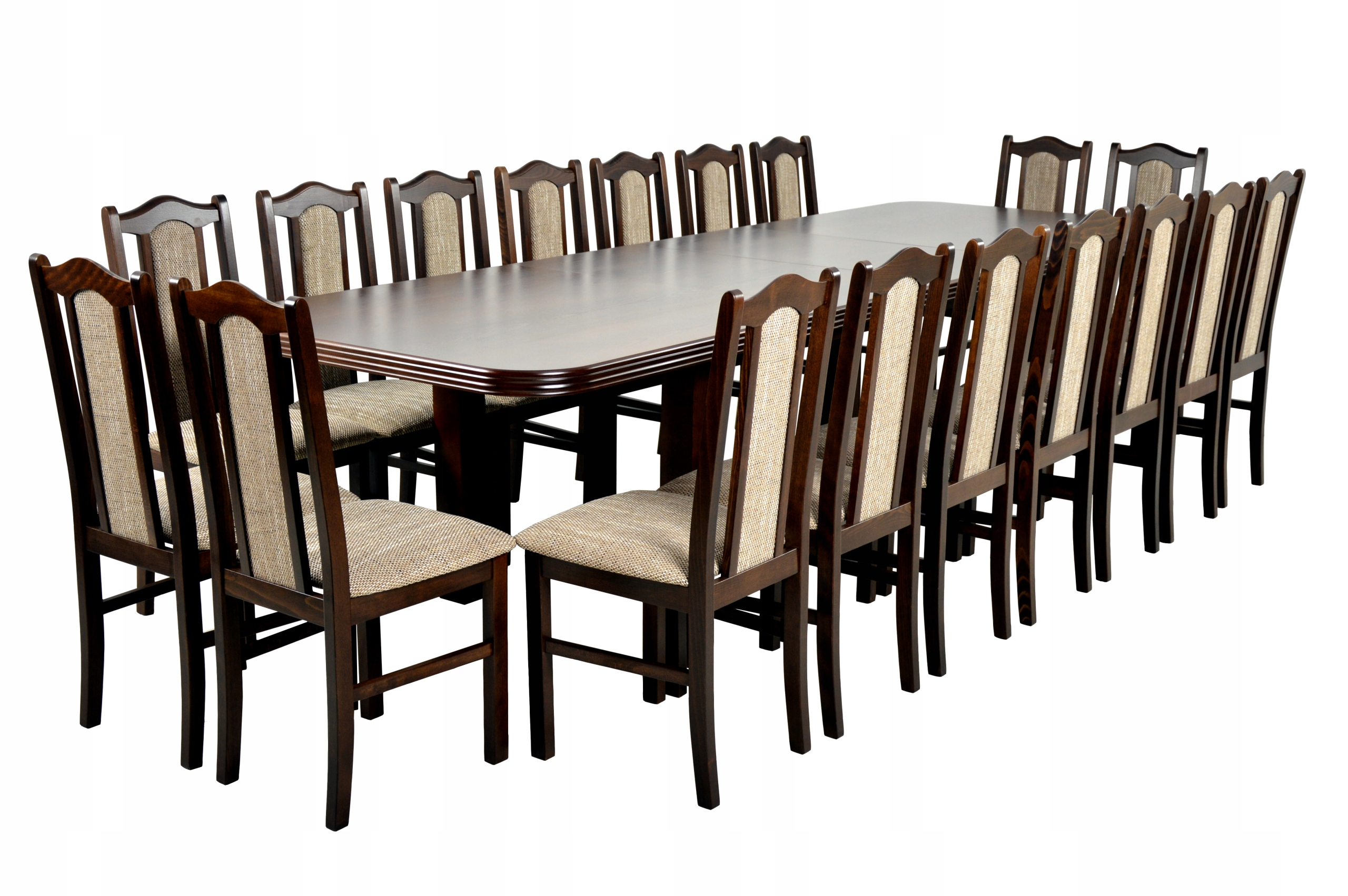 18 stoličky a stôl 100x200/300 cm DOPRAVA zdarma