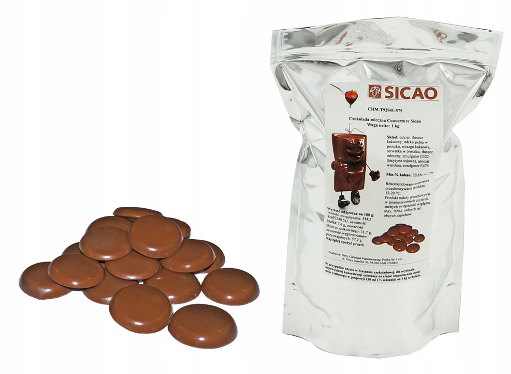 Купить ЛУЧШИЙ МОЛОЧНЫЙ Шоколад 1 КГ для фонтанов SICAO на Otpravka - цены и фото - доставка из Польши и стран Европы в Украину.