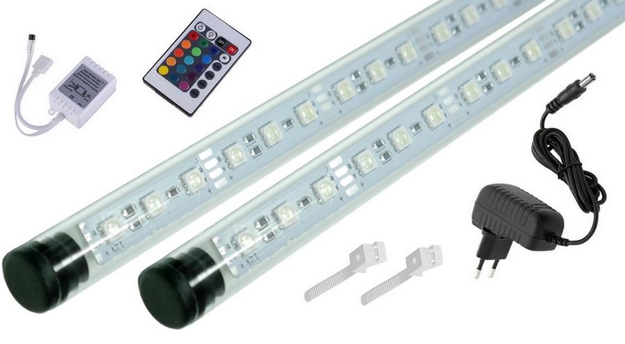 Žiarivka LED RGB akvárium pilot 16w1 2x130cm A+A