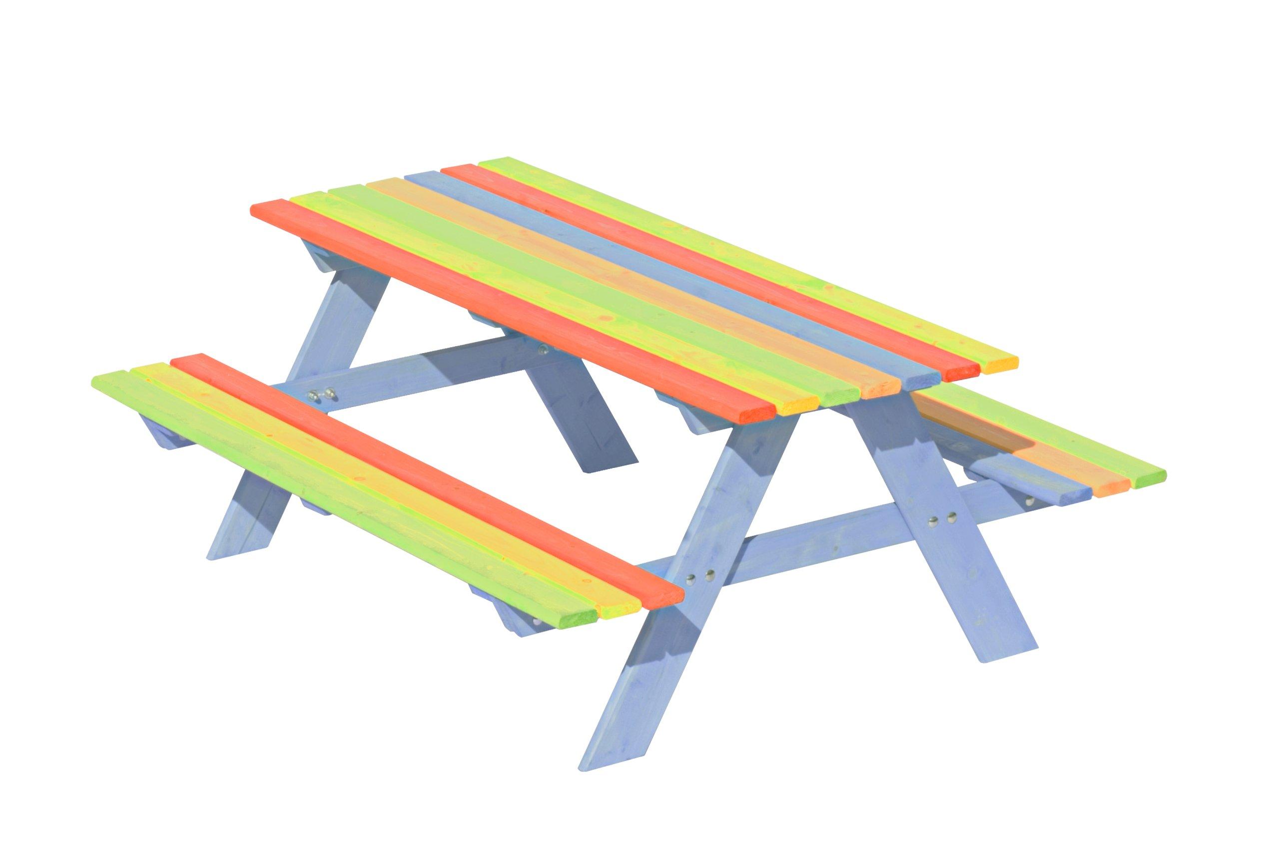 Drevený záhradný stôl pre deti
