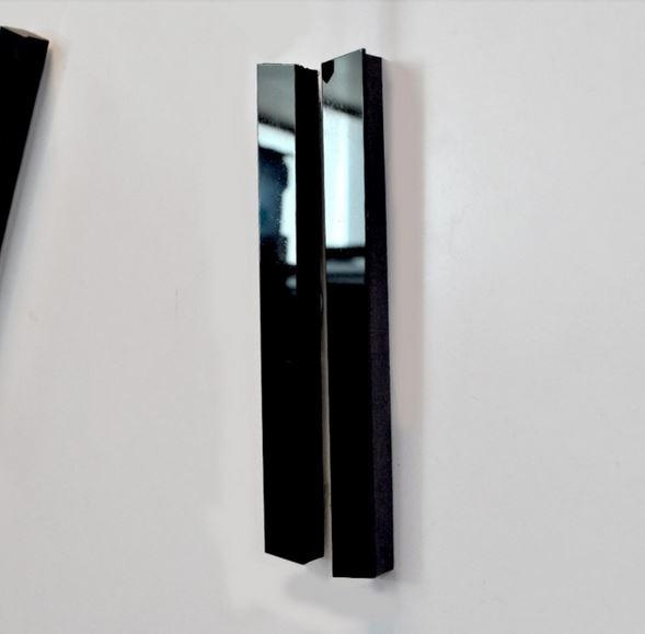 DUŻY ZEGAR ŚCIENNY DIY 3D ALUMINIUM,70-100cm-4310C Kolor czarny