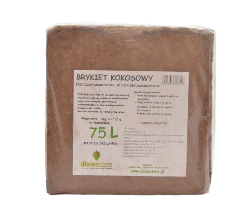 Кокосовый грунт, кокосовый брикет, 5 кг х 5 шт доставка товаров из Польши и Allegro на русском