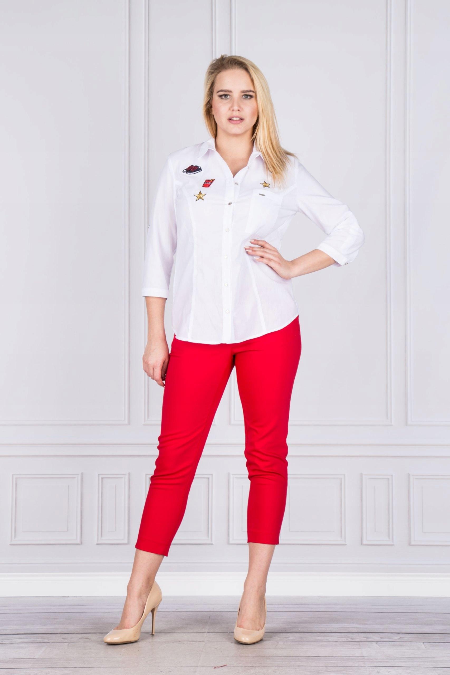 8e20c3bc Bluzka damska koszulowa biała roz 52 - 7352369694 - oficjalne ...