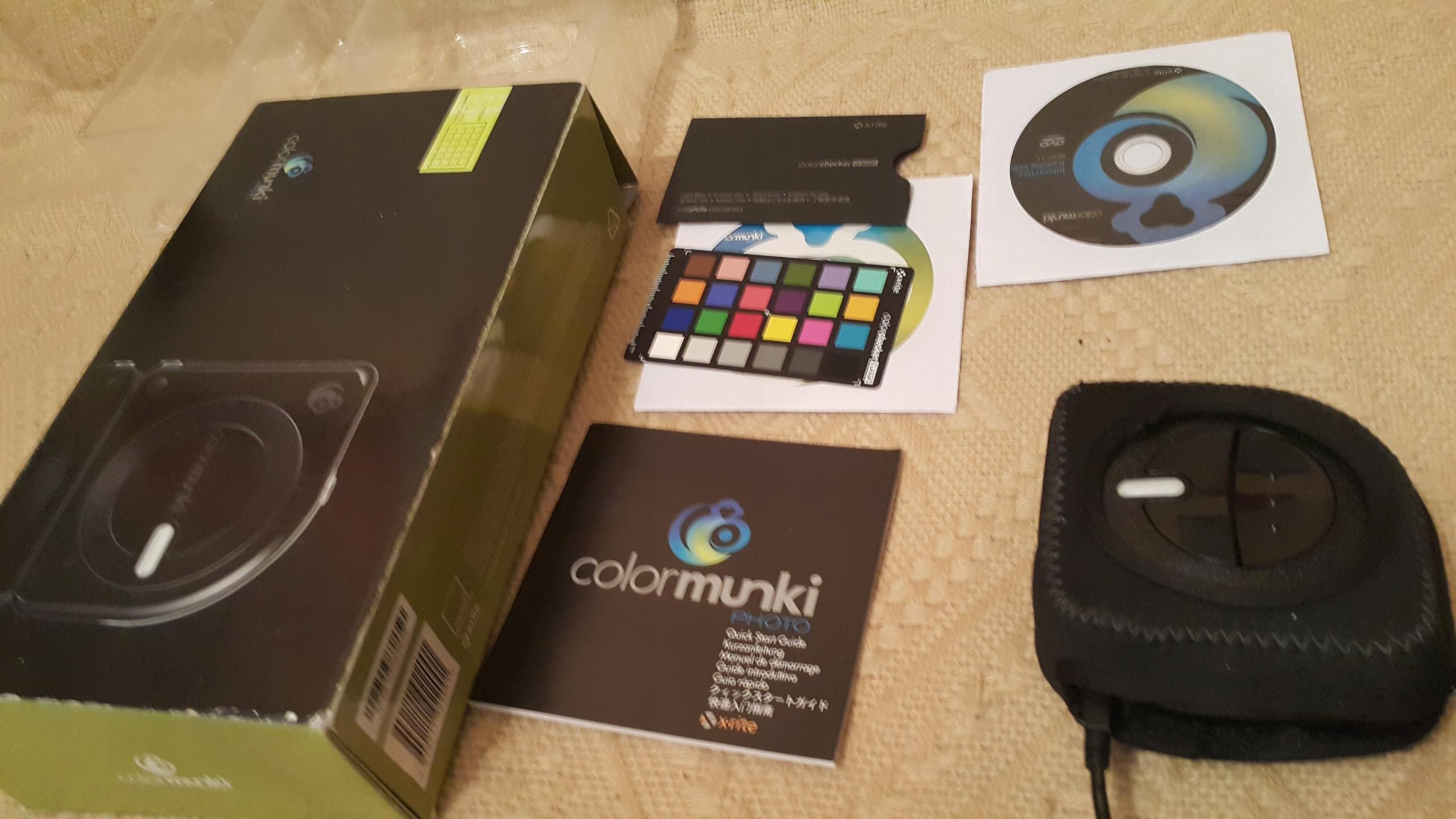 X-rite ColorMunkiPhoto+Colorcheker spektrofotometr