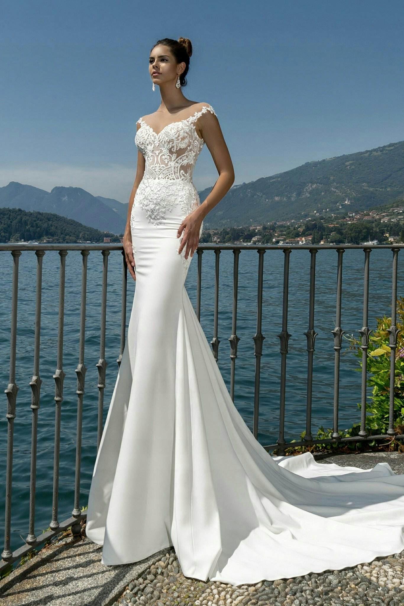 W Mega suknia ślubna syrenka, rozmiar 38 - 7522107995 - oficjalne EM89