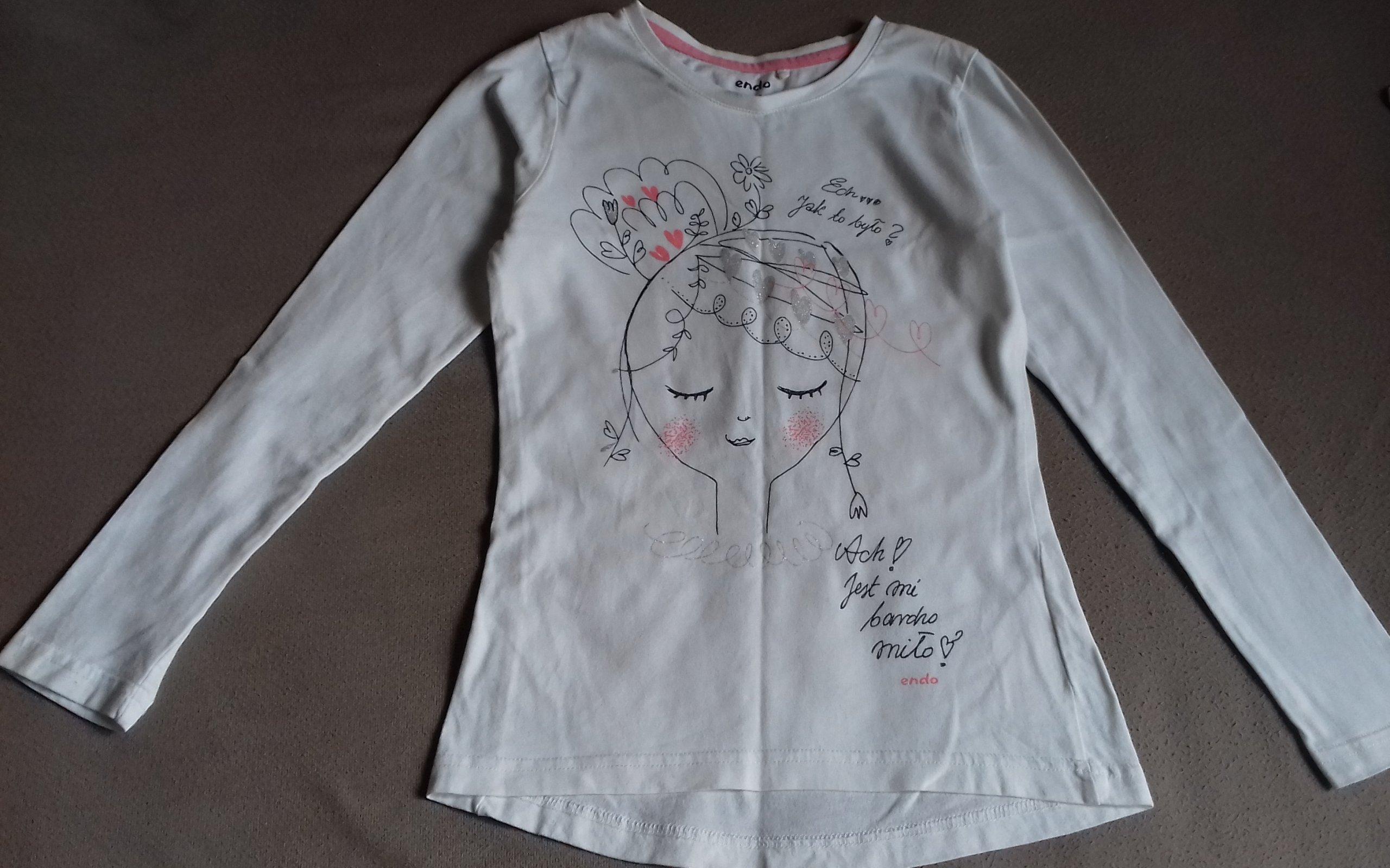 5c24e7d1d18b36 Endo - Bluzeczka z dziewczynką - roz.140 - 7604188282 - oficjalne ...