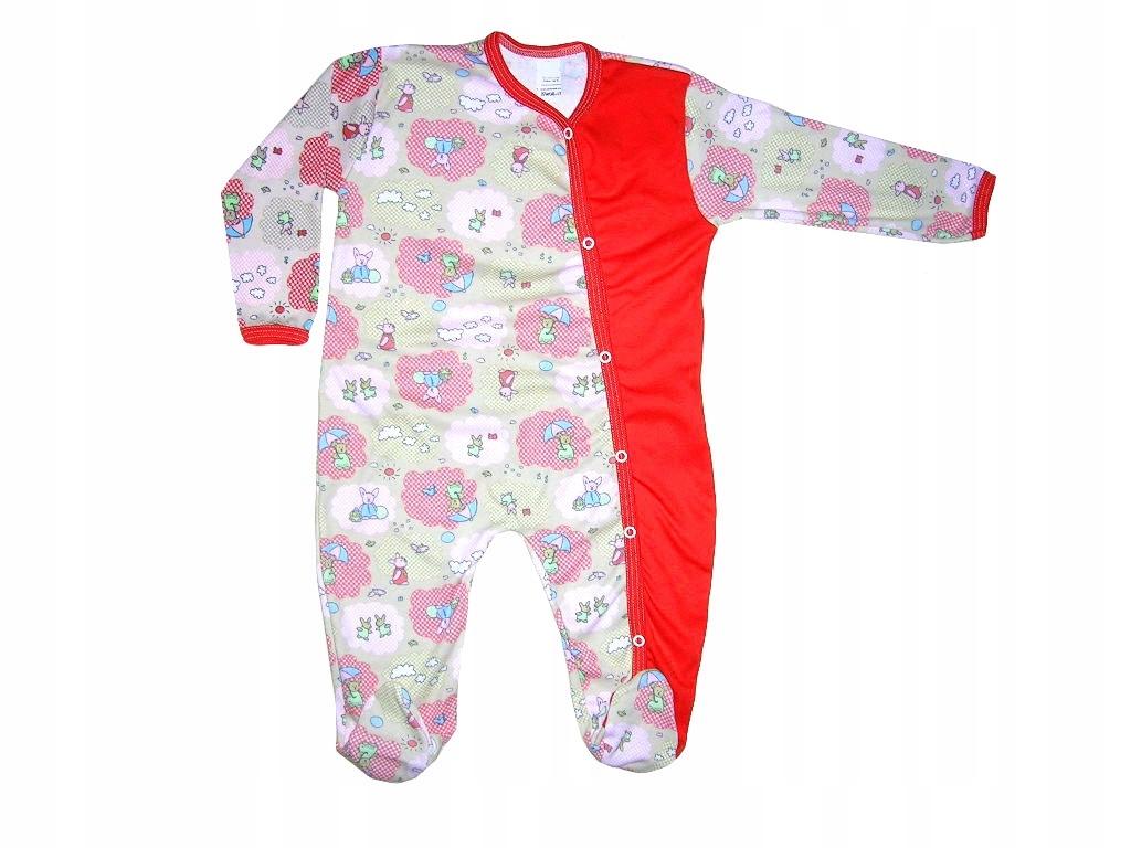 aedd3551fa40a6 PAJAC piżamka bawełniana śpiochy WYPRZEDAŻ 62 - 7460907650 ...