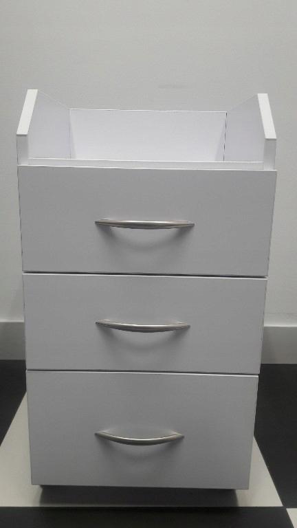 Góra szafka kosmetyczna na kółkach z 3 szufladami - 7721716478 DD37