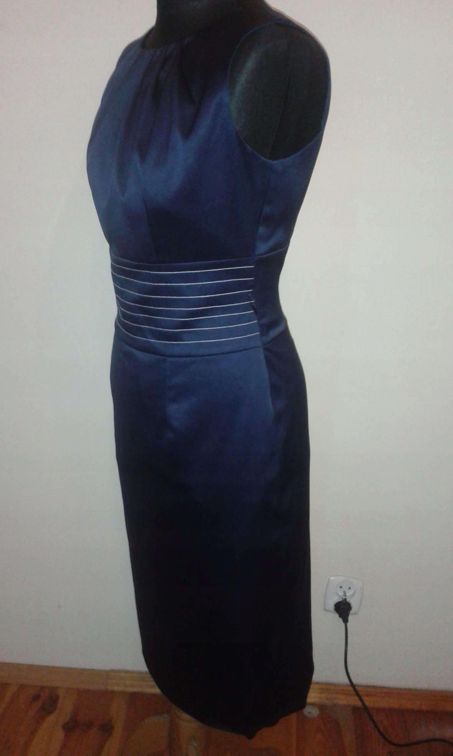 6bd20c0763 BOONE elegancka ołówkowa granatowa sukienka r.40 - 7717383555 ...
