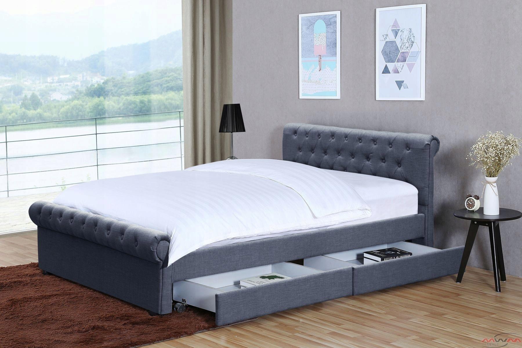 łóżko Tapicerowane 1807d 140x200 Z Materacem 7563110487