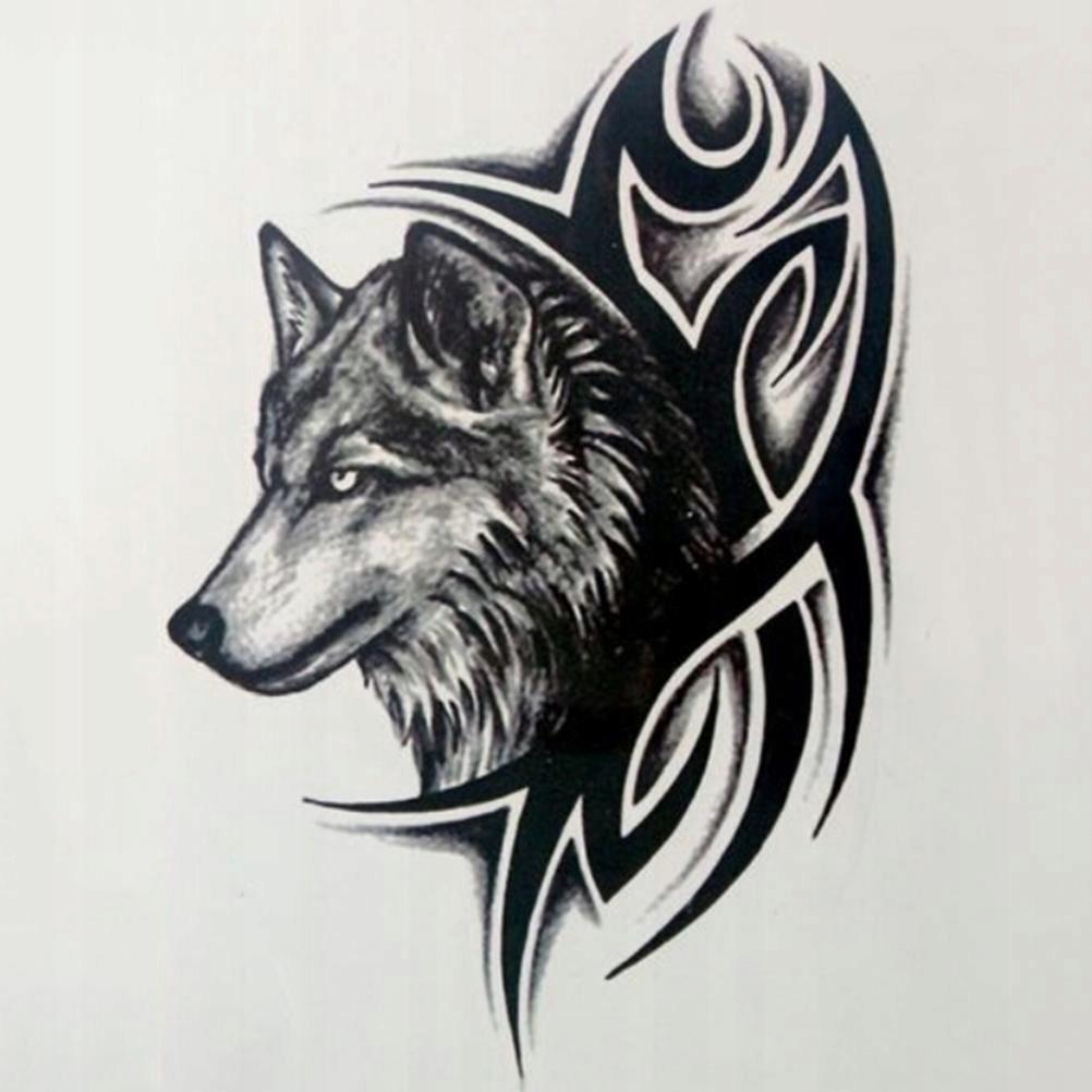Tatuaż Zmywalny Wilk Duży Groźny 7516700902 Oficjalne