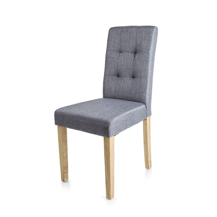 Homecraft Eiko Krzesła Do Jadalni Szare 4szt