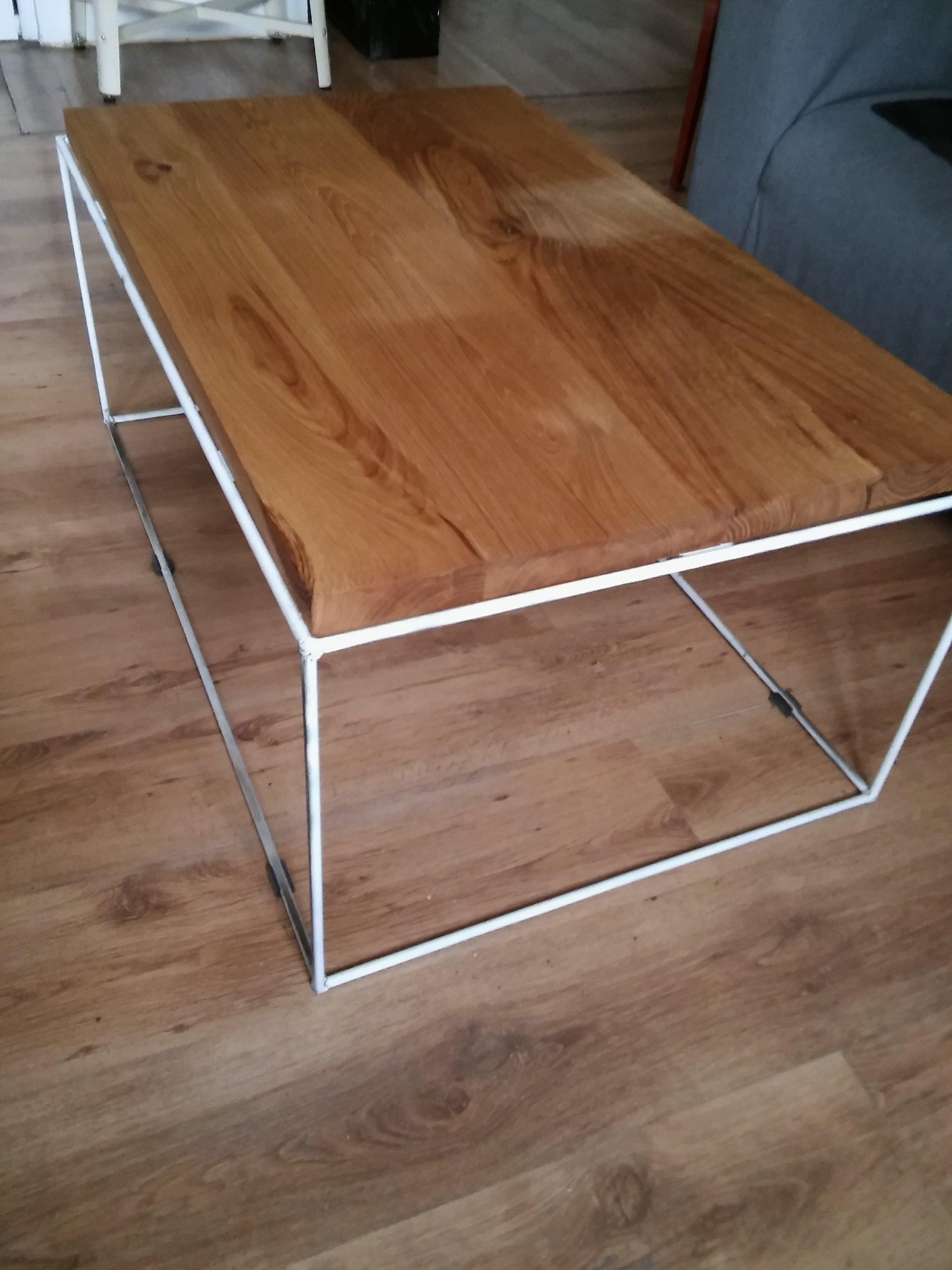 Stolik Kawowy Rustykalny Loft Blat Dębowy Design 7266630826