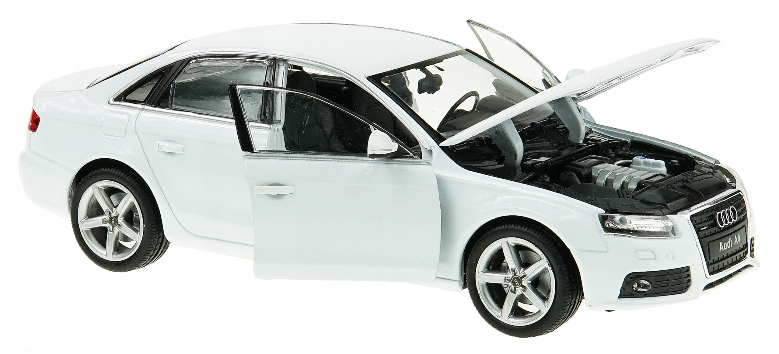 Audi A4 B8 Model Metalowy Welly 124 Biały 7377365122 Oficjalne