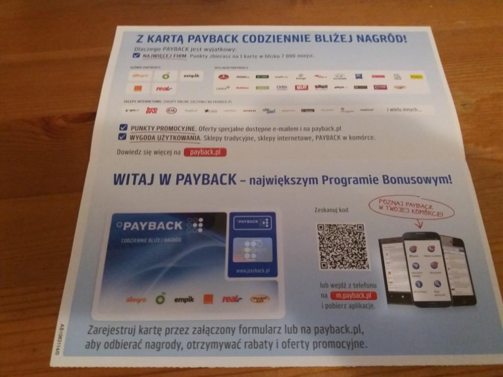 Kolekcjonerska karta Payback