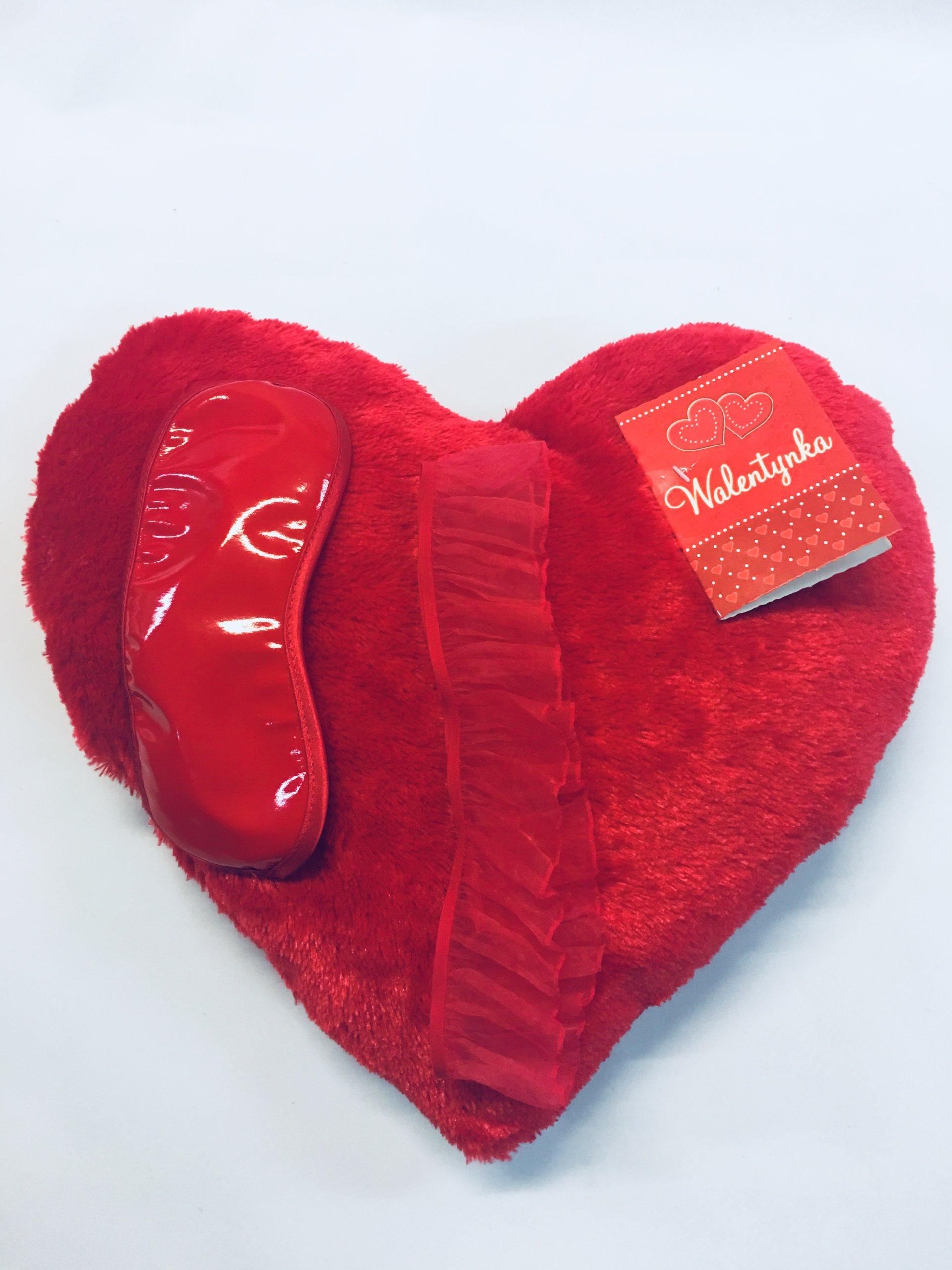 Poduszka Serce Walentynki Z Gadżetami Zestaw 7118526288
