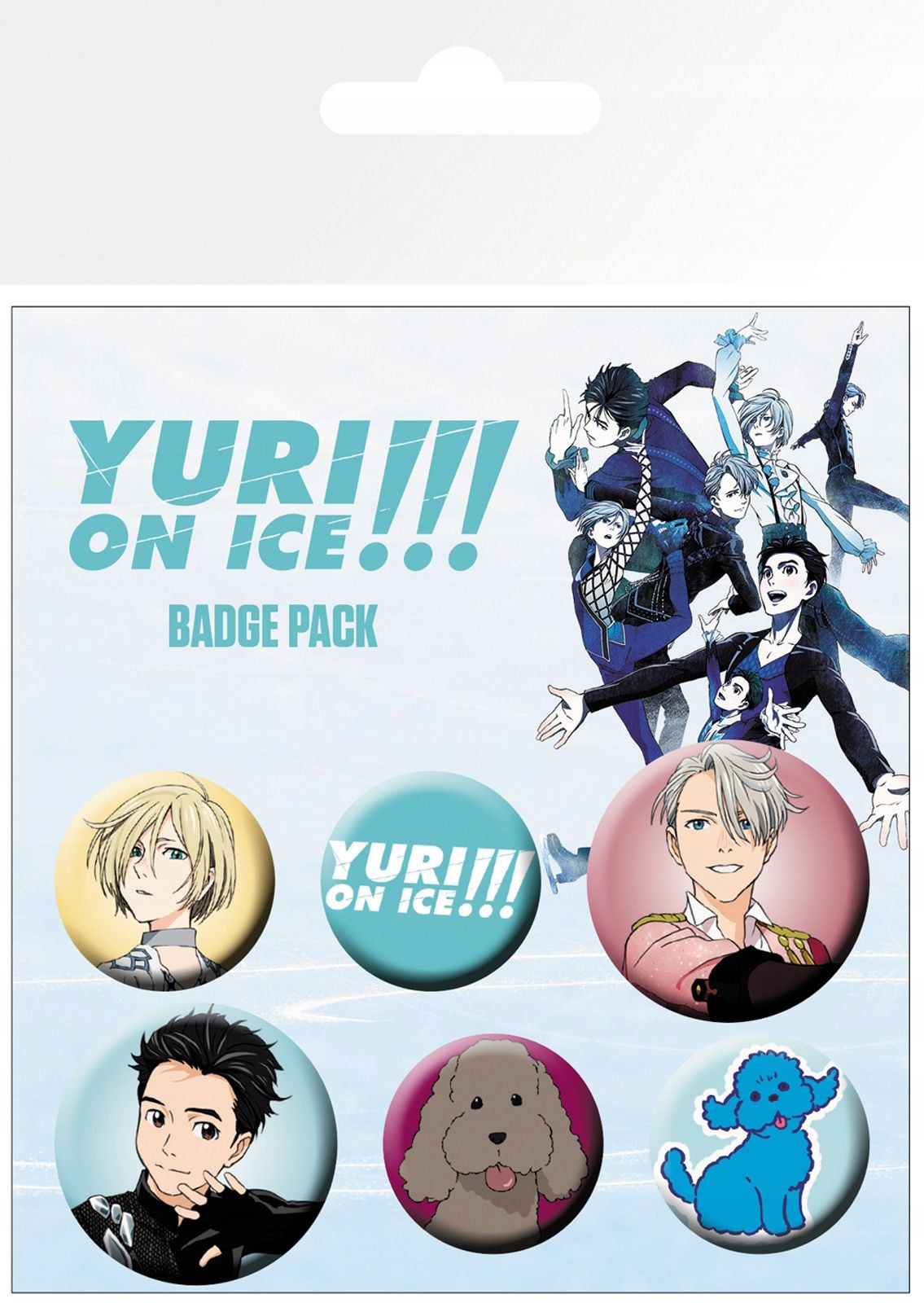 Yuri On Ice Mix Badge Przypinki Komplet 6 szt.