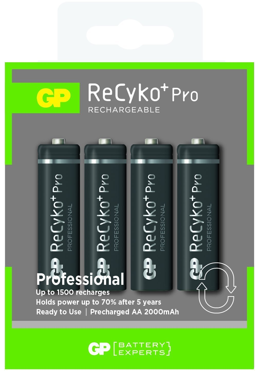 D1268X 4 x akumulator GP RECYKO+ PRO AA 2000mAh