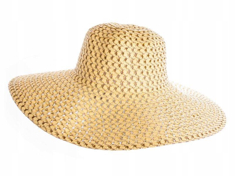 9d14832a6 Słomkowy kapelusz damski żółty - 7618990867 - oficjalne archiwum allegro