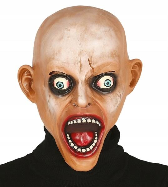 Maska łysy zombie Halloween [919/2406]