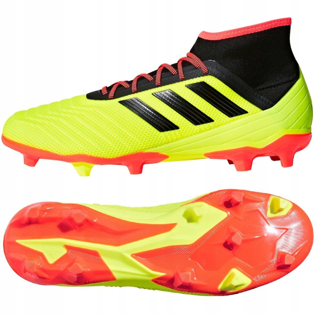 Buty piłkarskie korki Predator 18.2 FG Adidas (seledynowe)