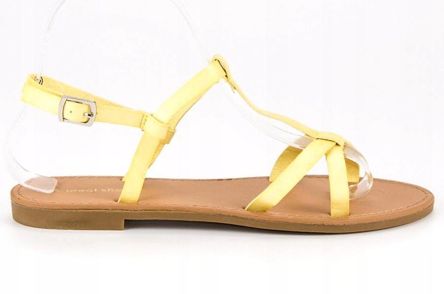 96fd3aaed9f0e Żółte Ze skóry ekologicznej Ideal Shoes r.40 - 7428916507 ...