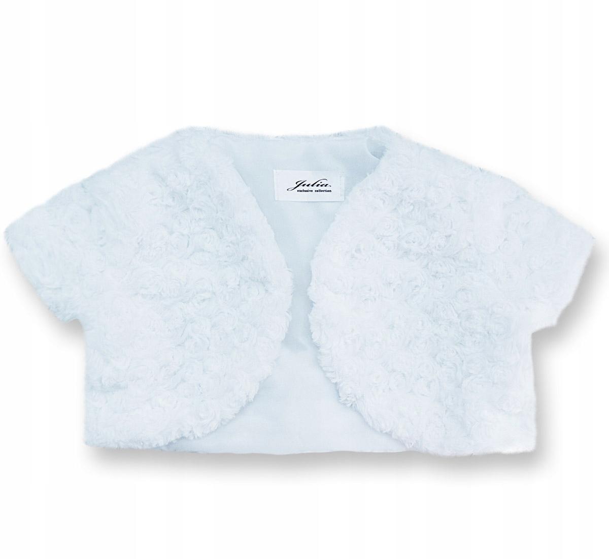 a4b3f04017 68 Sweterek Bolerko na chrzest różyczki - białe - 7385389880 ...