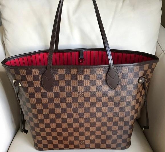4d9e6fb7ff8ab Torebka Louis Vuitton Neverfull MM Damier Ebene - 7690601413 ...