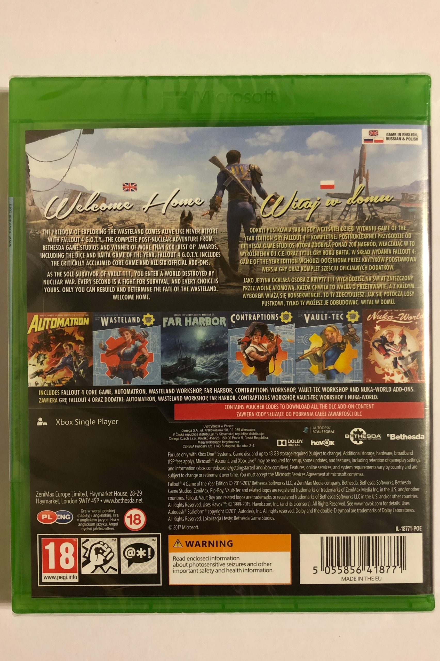 Fallout 4 GOTY Xbox One - Nowa w folii - wersja PL - 7712833250