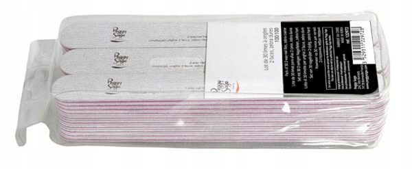Peggy Sage Pack Of 30 2-Way Nail Files Zebra Coars