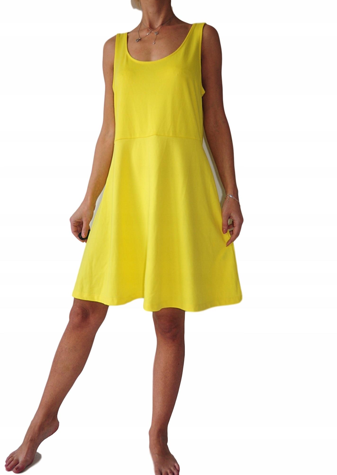 47c45fb5fe H M sukienka żółta trapezowa 44   46 - 7669635899 - oficjalne ...