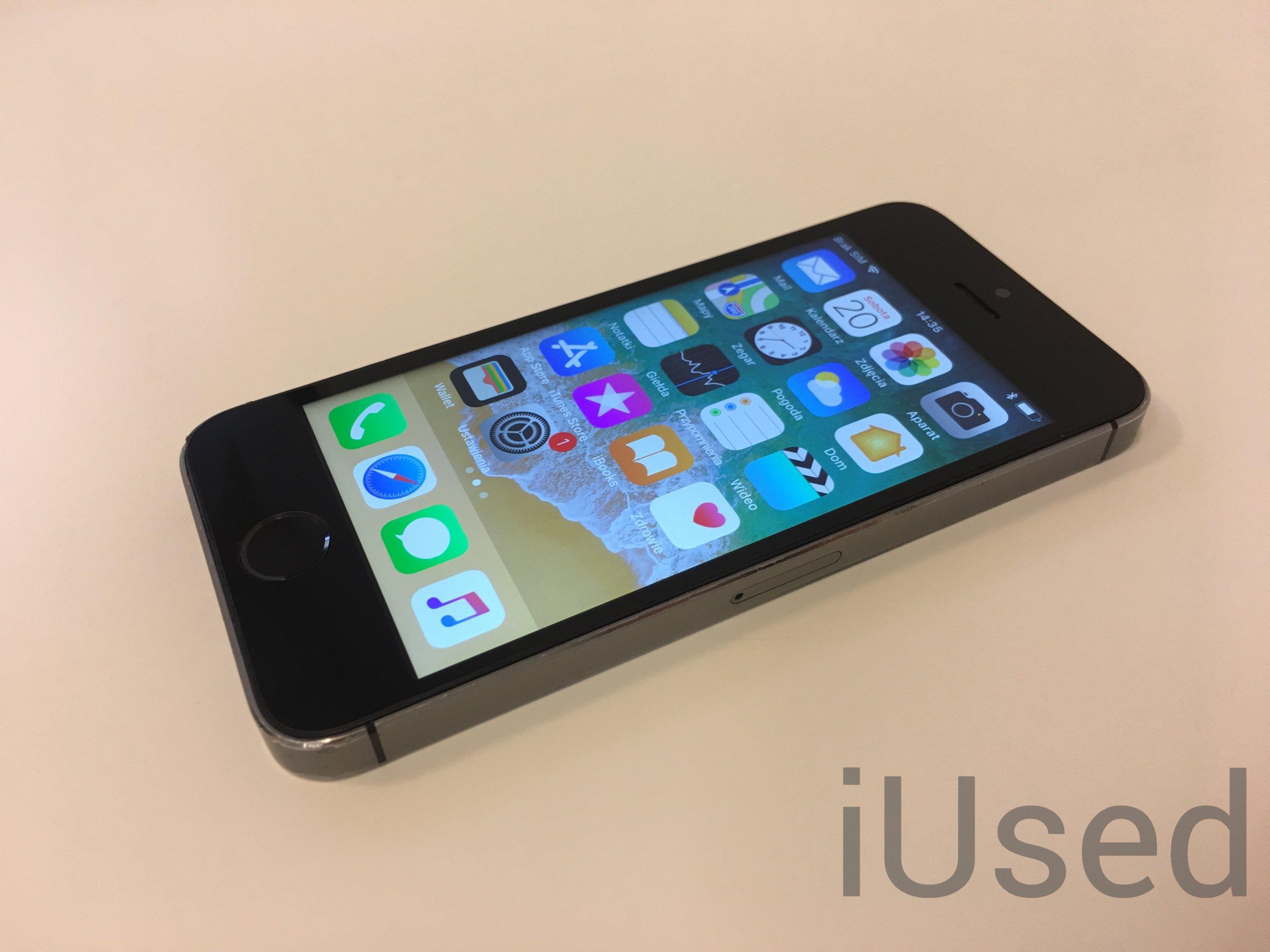 Apple iPhone 5S Space Grey 16GB od iUsed GW12M