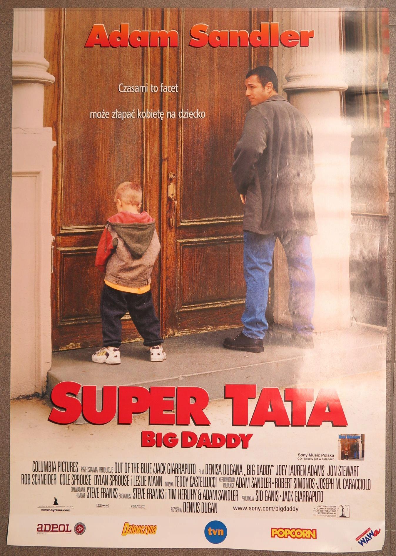 Stary Plakat Filmowy Super Tata Big Daddy