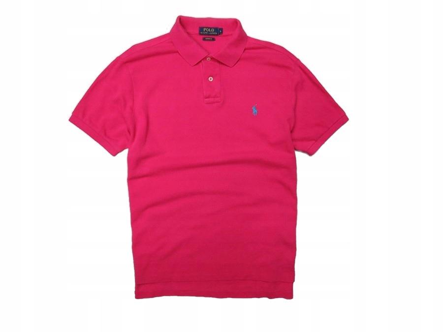 2e1ceefeb RALPH LAUREN POLO różowa koszulka męska L - 7552677818 - oficjalne ...