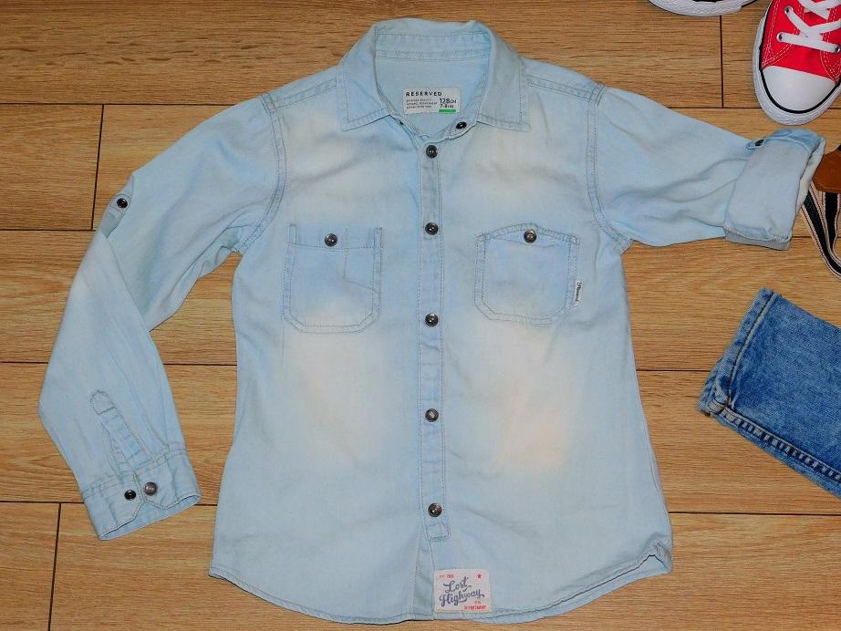 75e97d63 Koszula jeansowa jasna Reserved rozmiar 128,8 l - 7424880359 ...