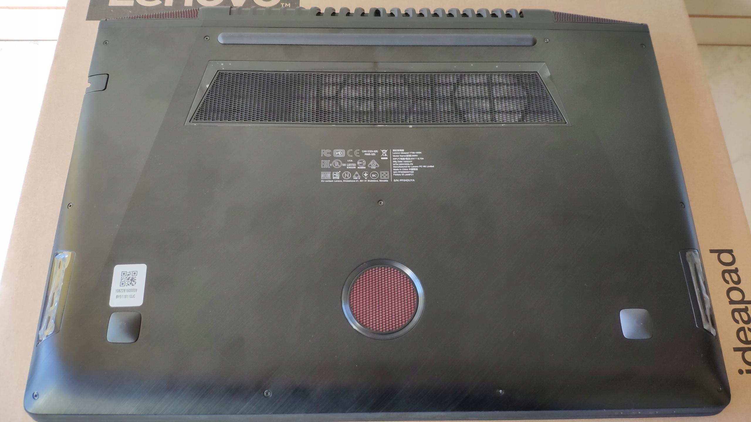 Lenovo Y700-15ISK, i7-6700,8Gb/128SSD+1TB/GTX960M