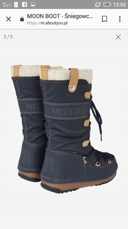 Moon boot śniegowce czarne 37 nowe 7746262933 oficjalne