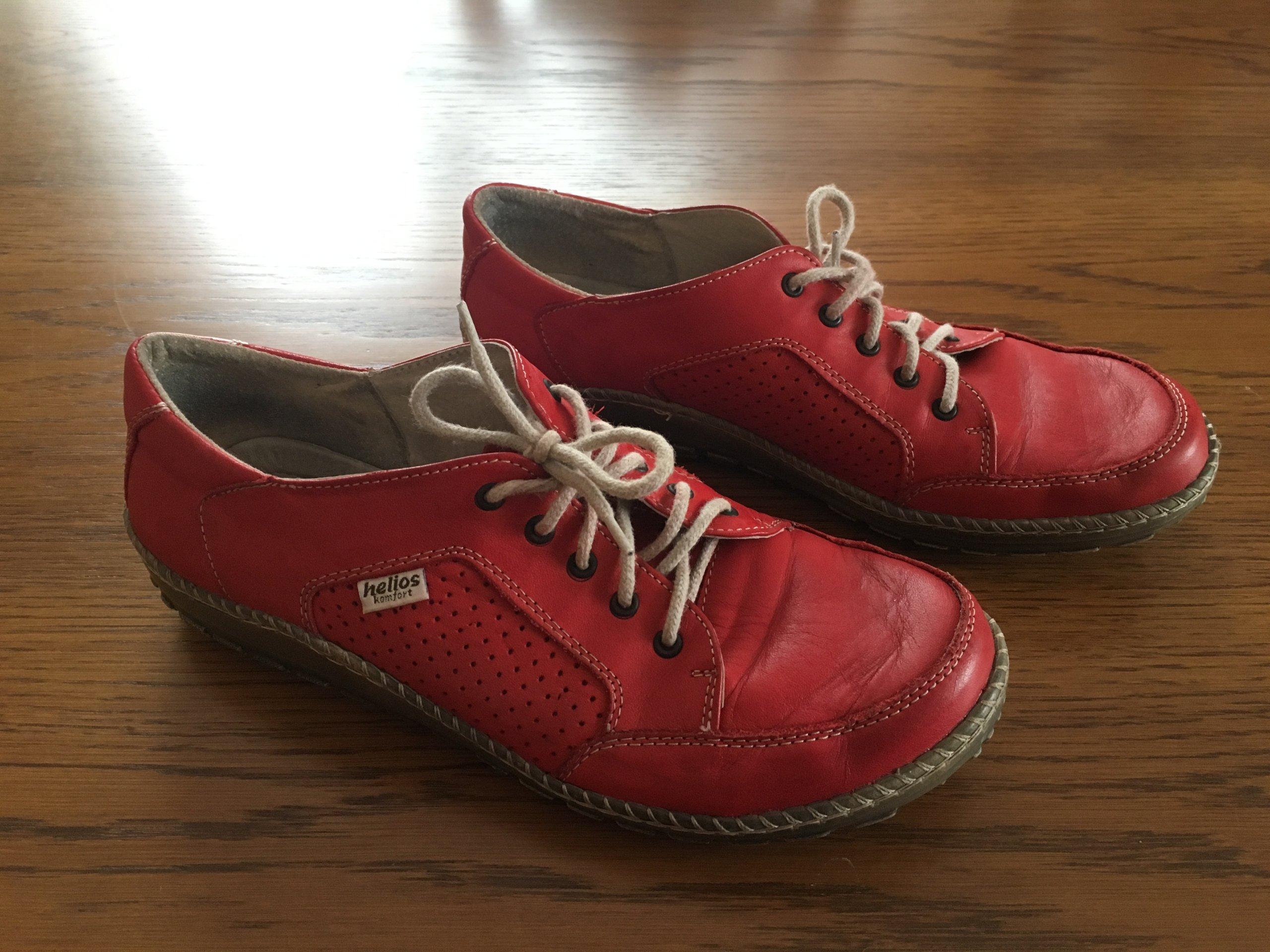 eb69a7d4 buty półbuty skórzane czerwone Helios 40 - 7285368640 - oficjalne ...
