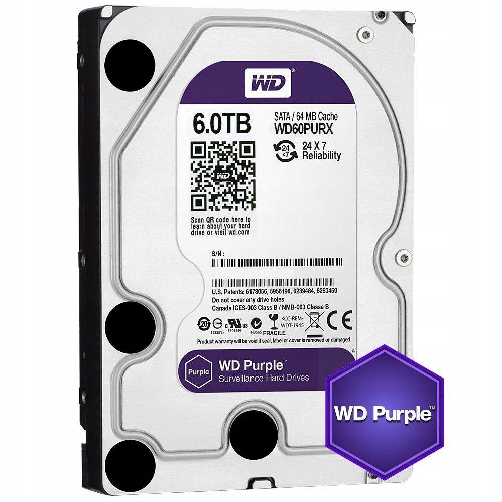 Dysk Twardy HDD WD Purple 6TB 3.5'' GWARANCJA