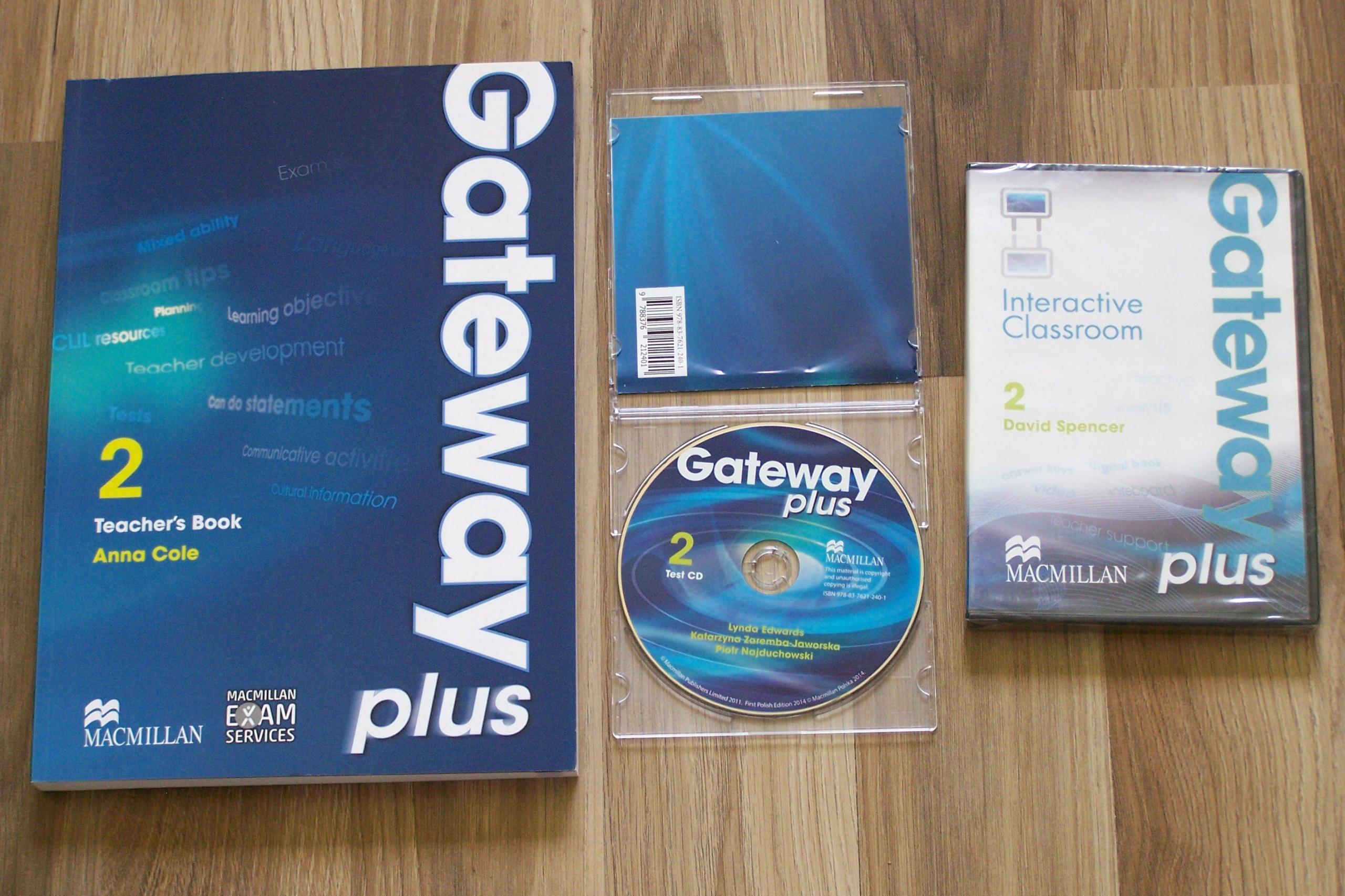 Zupełnie nowe GATEWAY PLUS 2 KSIĄŻKA NAUCZYCIELA + CD TESTY - 7570013152 CY12