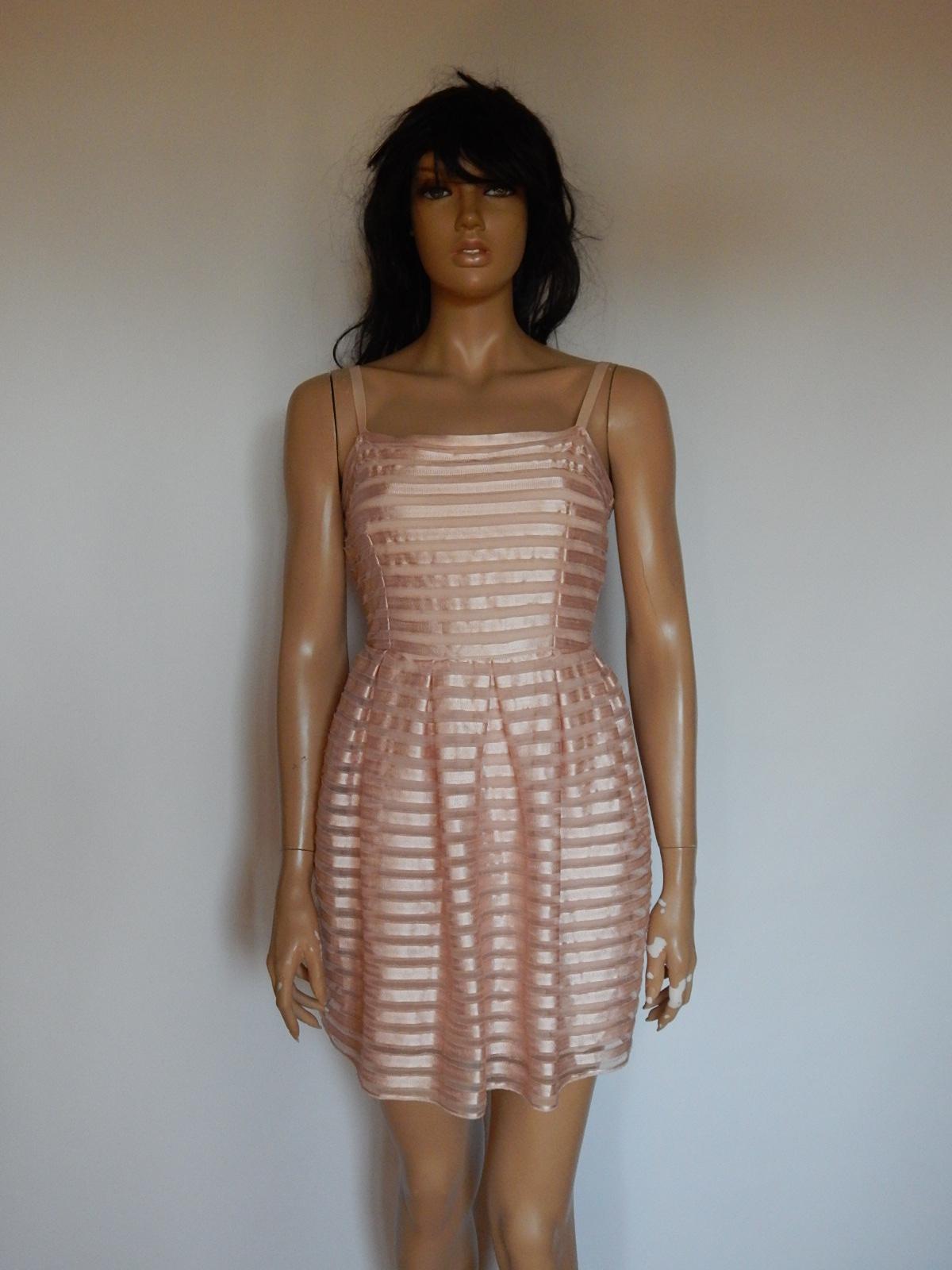 816685c74d H M rozkloszowana sukienka pudrowy róż 38 - 7393969978 - oficjalne ...