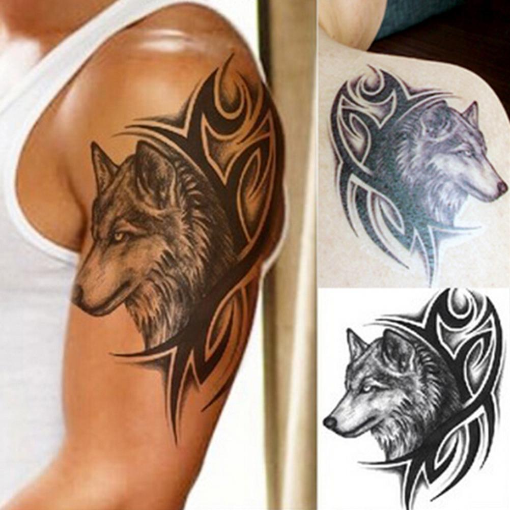 Tatuaz Zmywalny Tribal Wilk 6975677799 Oficjalne
