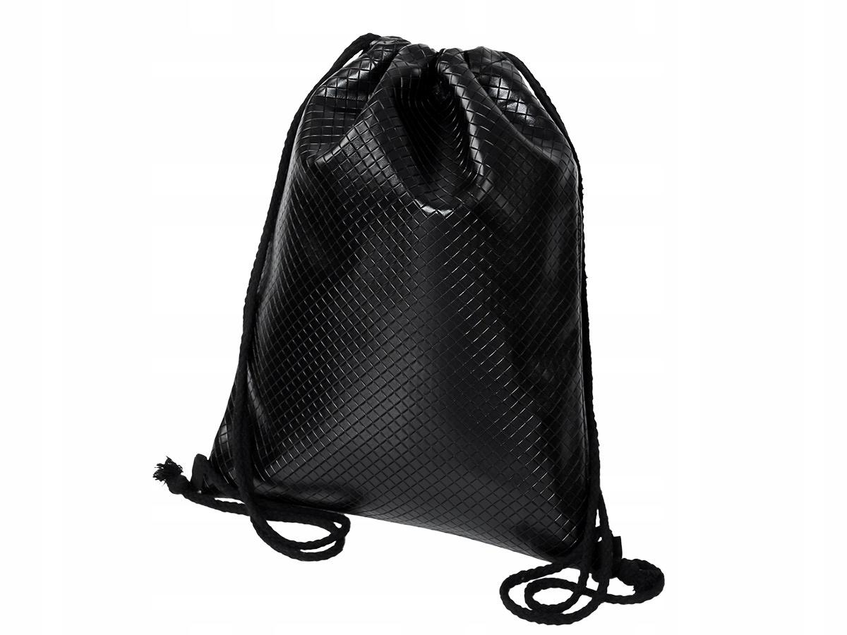 bf365410ac265 Czarny plecak worek DAMSKI szkolny pikowany - 7485441063 - oficjalne ...